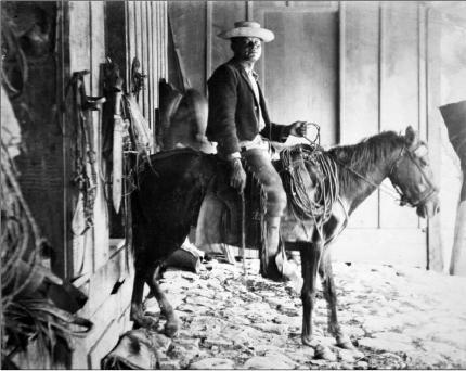 Sabanero en la Hacienda La Catalina, 1904. Crédito Archivo Nacional de Costa Rica